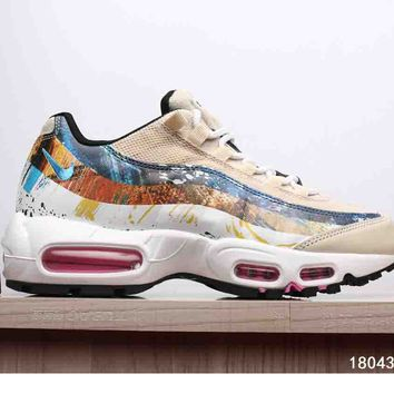 NIKE AIR MAX 95 MEN WOMEN SHOES CONTRAST SOLES SNEAKERS SPORTS SHOES B-A-XIONGDI-UPING Print