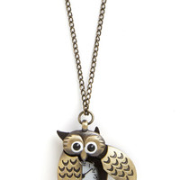 ModCloth Owls Owl Be Watching You Necklace