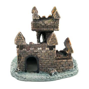 A Weathered Castle Ornament Can Bring Unique Personality to Your Aquarium Tank