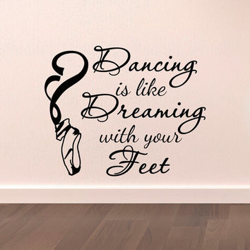 dance wall decal stickers dancing is like from wallstickers folies dancer wall stickers