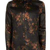 Green Floral Premium Fabric Smart Shirt - Latest Trend - New In