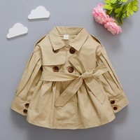 Baby girl double-breasted trench coat