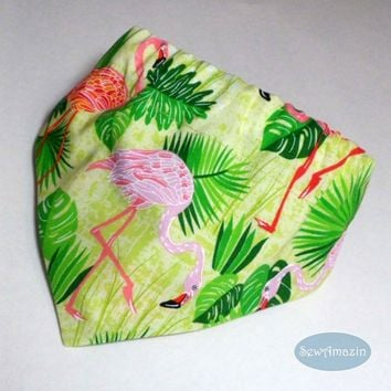 Pink Flamingo Paradise Summer Dog Bandana