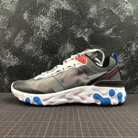 Nike React Element 87 Parra Dark Grey Sport Running Shoes - Best Online Sale