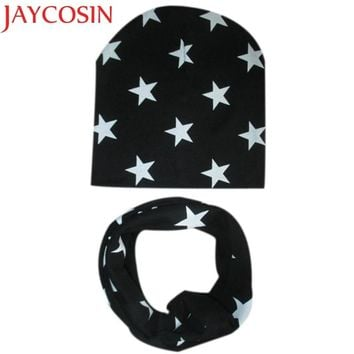 2c76500532f JAYCOSIN New Fashion Cute Kids Baby Hat Set Casual Star Printed