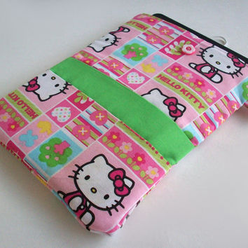 Hello Kitty Kindle Cover / Nook Case / Ereader Sleeve / Tablet