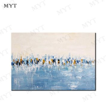 MYT Abstract Modern Large Canvas Wall Art Huge Handmade Oil Painting Decorative Canvas Paintings For Home Decor Office Unframed