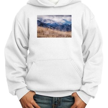 Pikes Peak CO Mountains Youth Hoodie Pullover Sweatshirt by TooLoud