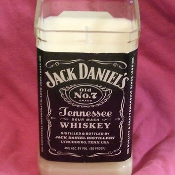 Pure Soy Candle in Reclaimed Jack Daniels Liquor Bottle