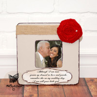 Thank You Gifts for Parents Wedding Gift Personalized Picture Frame Wedding Mother of Bride Father of Bride Mother of the Groom Gift Frame