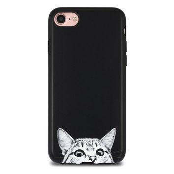 black cat case cover for iphone x 8 6s 7 plus gift box  number 1