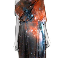 Crimson Nebula Spandex Dress
