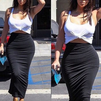 Sleeveless Tank top with Bodycon Skirt Twinset