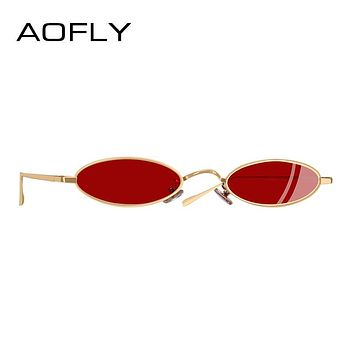 Sunglasses Women Men Small Oval Sunglasses For Male Retro Metal Frame Shades UV400