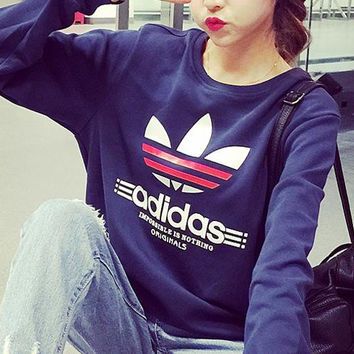 Adidas Fashion Letter Print Pullover Tops Sweater Sweatshirts