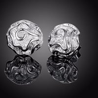 Rose Stud Silver Earring