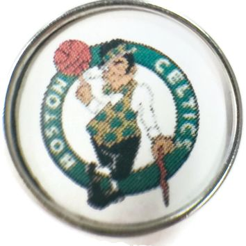 NBA Basketball Logo Boston Celtics 18MM - 20MM Fashion Snap Jewelry Snap Charm New Item