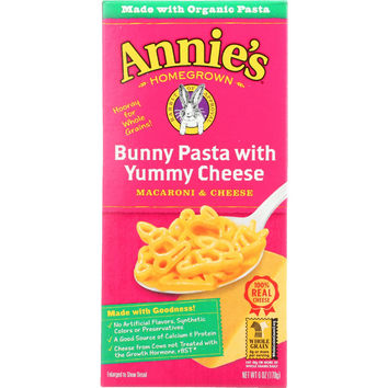 Organic Bunny Pasta Shapes with Yummy Cheese - 6 oz