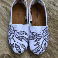 Day dreaming custom made unique mandala style, henna inspired shoes