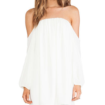 T-Bags LosAngeles Cold Shoulder Top in Ivory