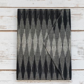 Black and Gray Fabric Handmade Journal