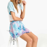 Minkpink Inbetween Days Pyjama Shorts in Blue - Urban Outfitters