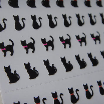 Cute Mini-black cat autocollant / Super Mignon chat noir autocollant coréen/cat stickers