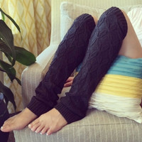 NEW Dark Grey Knitted Winter Thick Leg Warmers
