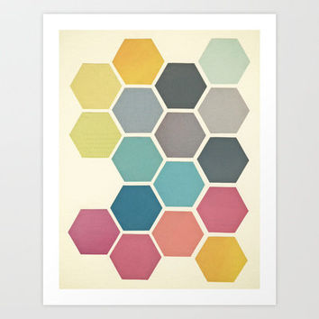 Honeycomb II Art Print by Cassia Beck
