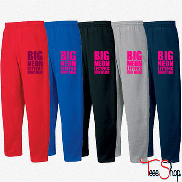 Big Neon Letters Sweatpants