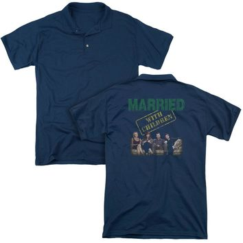 Married With Children - Vintage Bundys (Back Print) Mens Regular Fit Polo