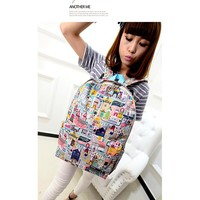 Korean Graffiti Canvas Backpack