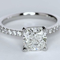 1.15ct Princess Cut Diamond Engagement Ring G-VS2  JEWELFORME BLUE GIA certified