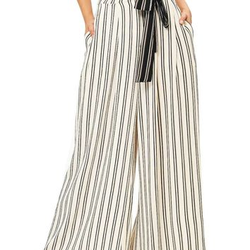 Ivy Stripe Wide Leg Pants