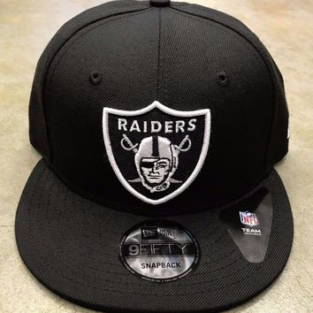 Raiders NFL New Era Basic 9FIFTY Snapback Hat Cap