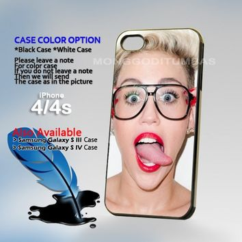 Miley Cyrus, Photo On Hard Plastic iPhone 4 4S Case