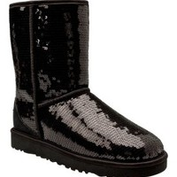 UGG Australia Women's Classic Short Sparkles Boot - Black | Dick's Sporting Goods