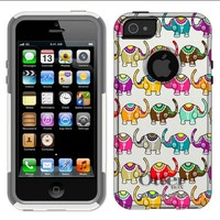 Otterbox Commuter Colorful Elephant Pattern Case for iPhone 5