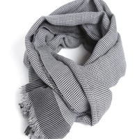 Pied de poule cotton scarf LANVIN | Julian Fashion on line shop