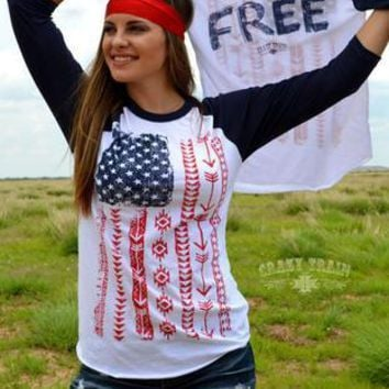 "Crazy Train Clothing Line - ""Live Free"" Baseball Tee"
