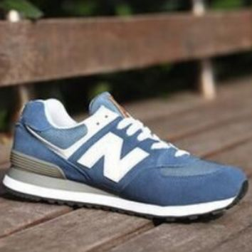 New Balance New Men's and Women's Couples Sports Shoes Blue