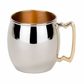 Solid Copper Moscow Mule Mugs Silver Nickel