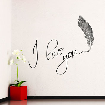 Wall Decal Quotes I Love You Heart from DecalsfromDavid on Etsy