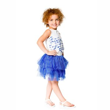 Deux Par Deux Blue Lagoon Skirt Set (sz. 2-6)