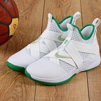 Nike LeBron Soldier 12 White Green Sneakers