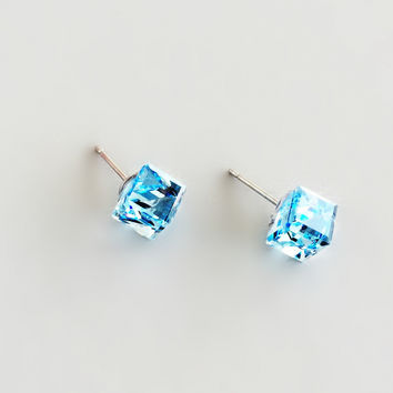 Aqua Glacier Earrings