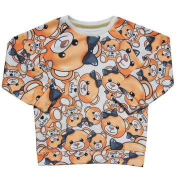 boy & girl Lovely bear long Sleeve T Shirt Tees Clothes kids and baby Children t shirt Delicate Style boy baby girl clothing