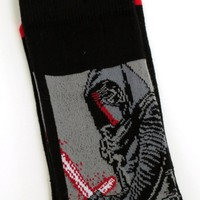 MENS DISNEY STAR WARS KYLO REN BLACK SOCKS SIZE 6-11