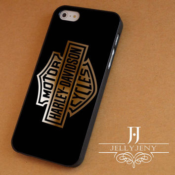 Harley davidson gold iPhone 4 Case 5 Case 5c Case 6 Plus Case, Samsung Galaxy S3 S4 S5 Note 3 4 Case, iPod 4 5 Case, HtC One M7 M8 and Nexus Case