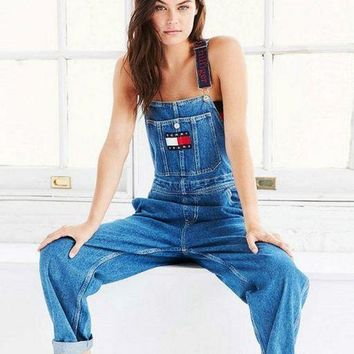 PEAPON Tommy Jeans x Urban Outfitters Fashion Romper Jumpsuit Pants